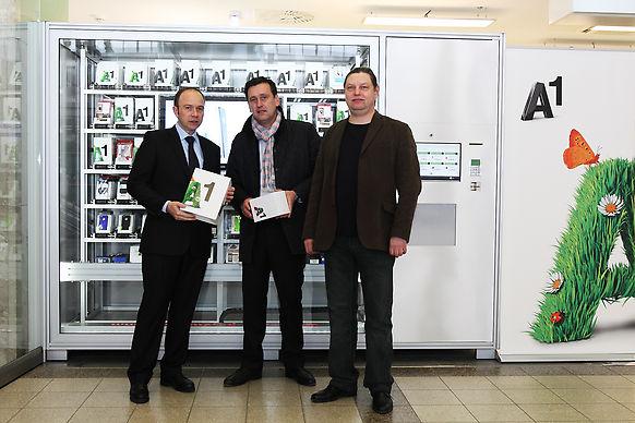 vending machine installation for A1 in Vienna