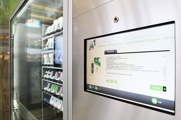 touch screen panel on an automated retail store