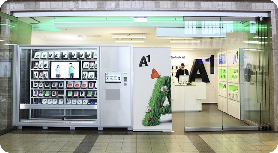 automated retail for electronics, phone and phone accessories