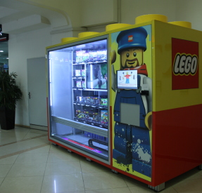 Lego automated stores - vending machine for toys, cosmetics, electronics