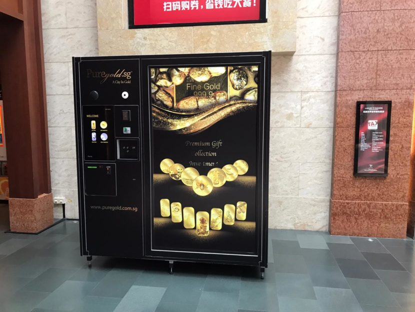 as_gold automated store, gold bars, jewellery, cosmetics